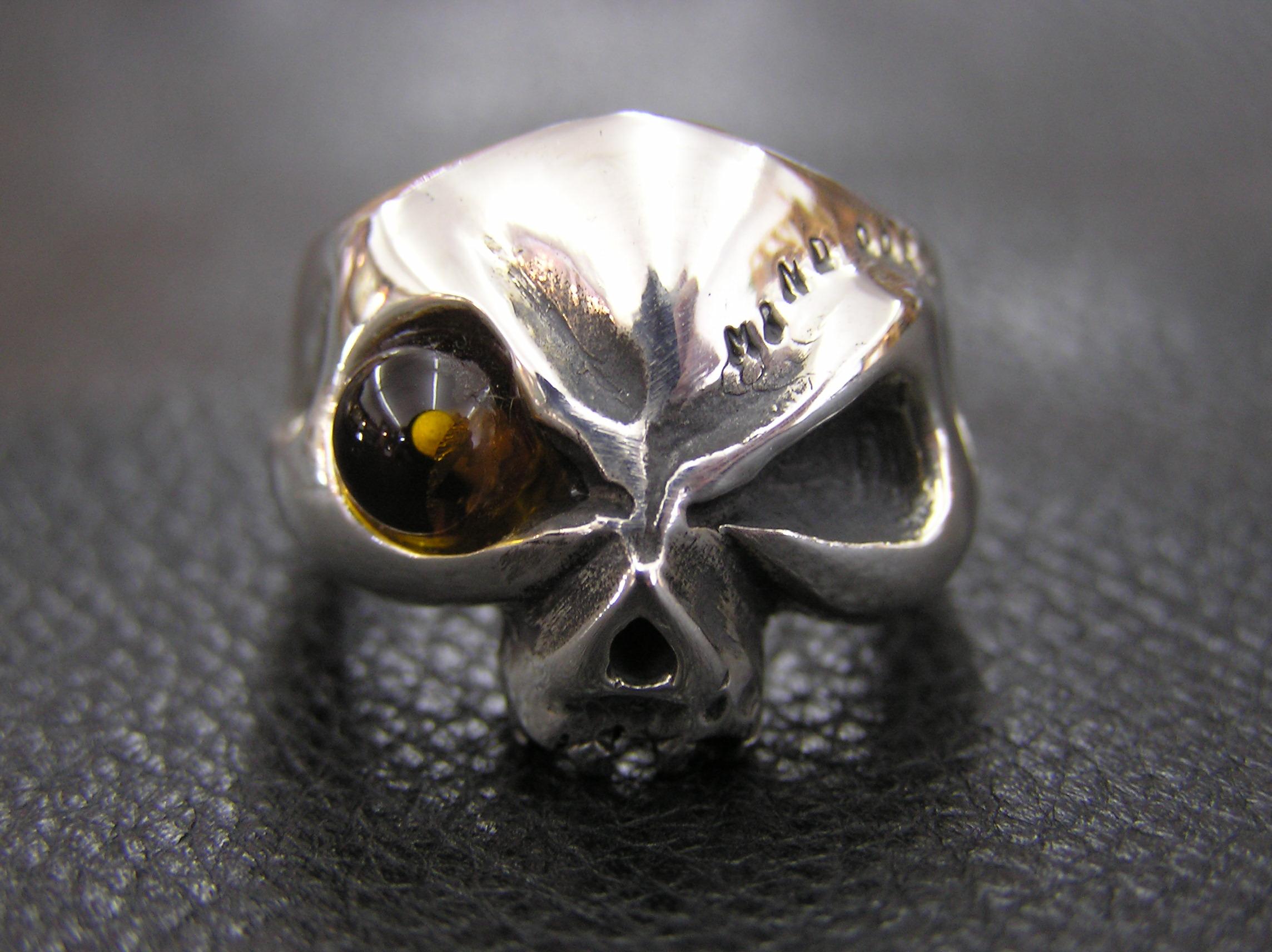琥珀スカルリング ~Amber skull~