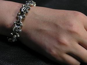 【MIND CORE】 スカル ブレスレット ~Cross bone skull Bracelet~