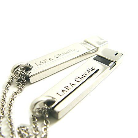 LARA Christie*ララクリスティー Side way Necklace サイドウェイネックレス :PAIR Label: