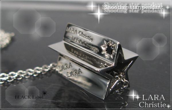 LARA Christie*ララクリスティー Shooting star Pendant シューティングスターペンダント :BLACK Label: