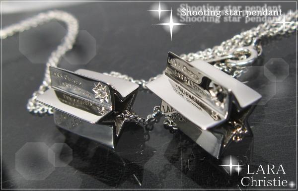 LARA Christie*ララクリスティー Shooting star Pendant シューティングスターペンダント :PAIR Label: