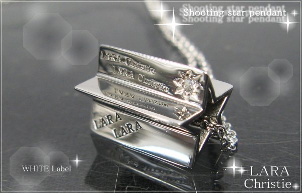LARA Christie*ララクリスティー Shooting star Pendant シューティングスターペンダント :WHITE Label: