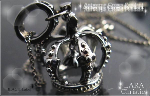 LARA Christie*ララクリスティー Antwerp crown Pendant アントワープクラウンペンダント :BLACK Label: