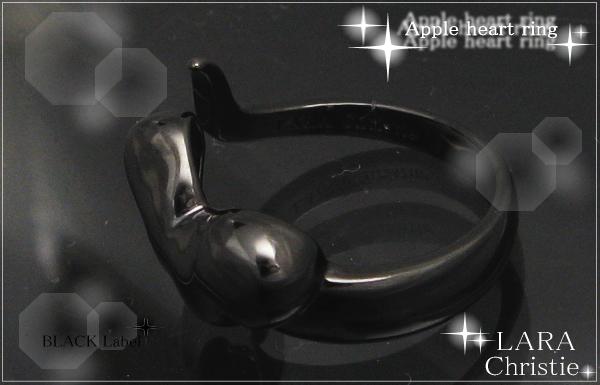 LARA Christie*ララクリスティー Apple heart Ring アップルハートリング :BLACK Label: