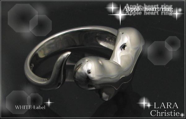 LARA Christie*ララクリスティー Apple heart Ring アップルハートリング :WHITE Label: