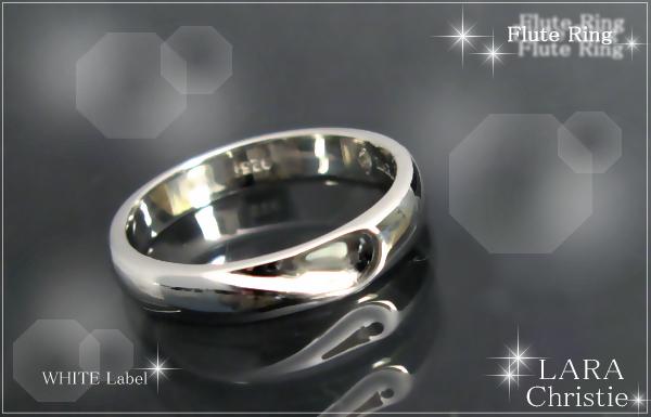 LARA Christie*ララクリスティー Flute Ring フルートリング :WHITE Label: