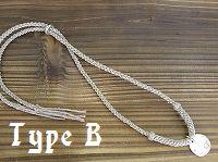 プレート(L)×HEMPネックレス